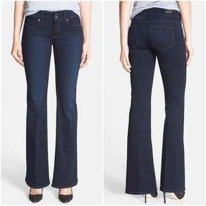Paige | Medium Wash Boot Cut Denim Jeans